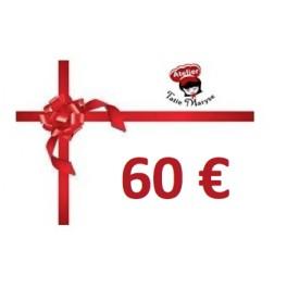 E-Carte cadeau pour les Ateliers Tatie Maryse - 60€
