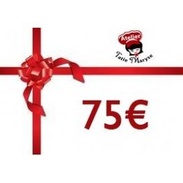 E-Carte cadeau pour les Ateliers Tatie Maryse - 75€