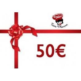 E-Carte cadeau pour les Ateliers Tatie Maryse - 50€